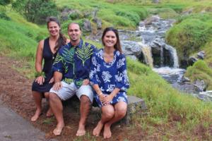 The ninth cohort of Mellon-Hawai'i Doctoral and Postdoctoral Fellows. (l-r) Dr. Kiana Frank, No'eau Peralto, Kealoha Fox.