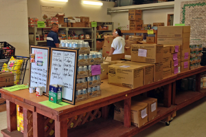 The Food Basket's Hilo pantry. The agency serves more than 7,000 customers on Hawai'i Island every month from warehouses in Hilo and Kailua-Kona with the help of more than 70 partner agencies.
