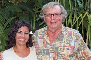 (l-r) Mellon-Hawai'i doctoral fellow Noelani Puniwai, mentor Craig Severance, Ph.D.