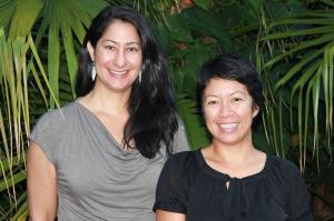 (l-r) Mellon-Hawai'i doctoral fellow Liza Keānuenueokalani Williams, mentor Vernadette Vicuna Gonzalez, Ph.D.