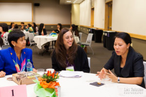 Lupenui providing leadership development for the Center for Asian-Pacific American Women (Photo by Les Talusan)