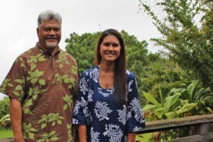 Dr. Kamana'opono Crabbe and Kealoha Fox